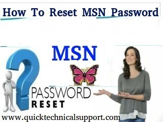 MSN password reset